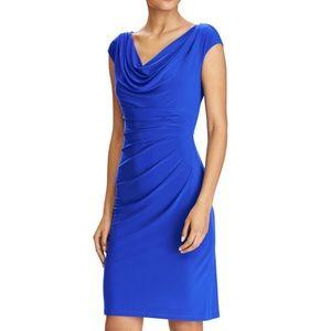 Ralph Lauren Woman Sleeveless Ruched Sheath Dress